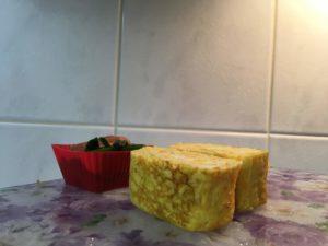 センターエッグトリプルパンで作った卵焼き