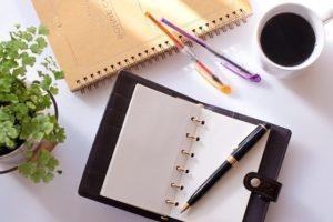 手帳やペン