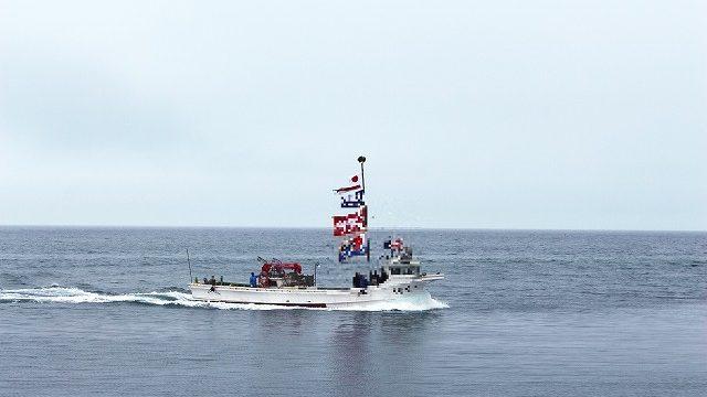 補正後の船の写真