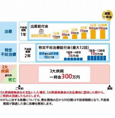 ニッセイ 出産サポート給付金付3大疾病保障保険 ChouChouの不担保期間を表す図