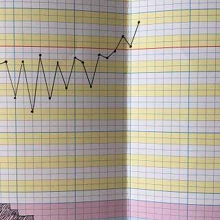 基礎体温表の高温期グラフ